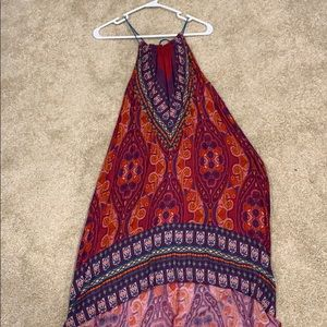 High low multi colored dress
